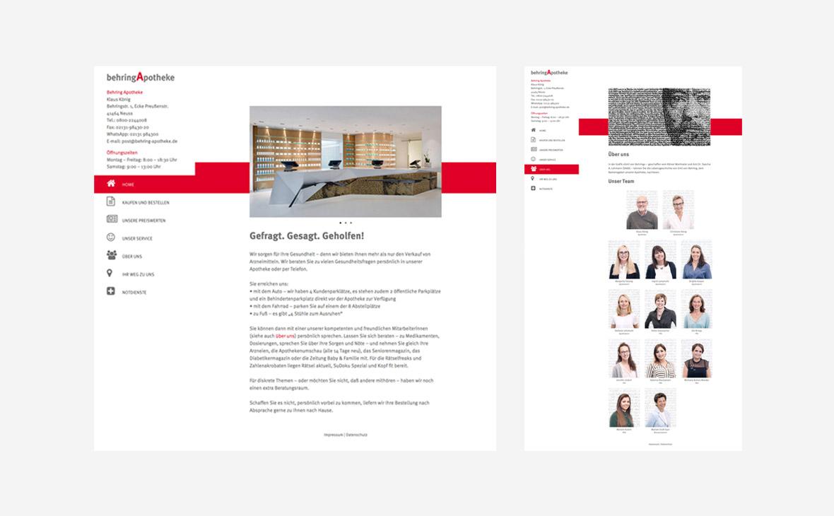 Behring Apotheke – Konzept, Gestaltung, Text - Teaserbild