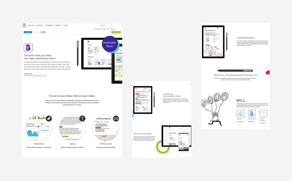 Wacom – Website Copy Bamboo Note - Teaserbild