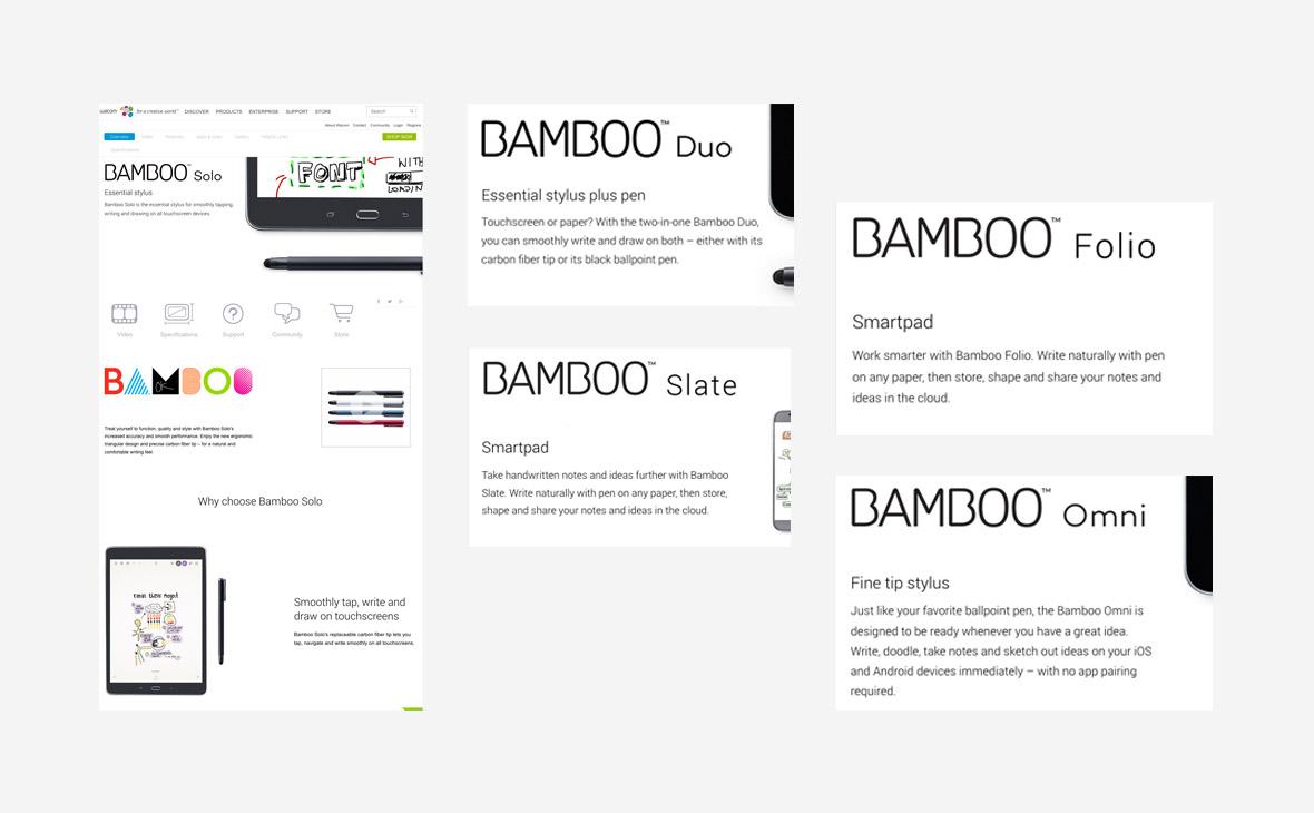 Wacom – Website Copy Bamboo Range - Teaserbild