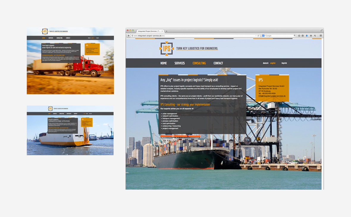Integrated Project Services – Website - Teaserbild