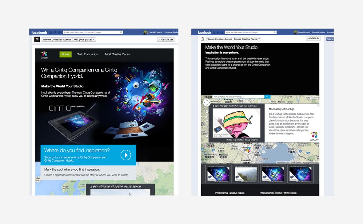 Wacom: Social Media Wacom Creative Places