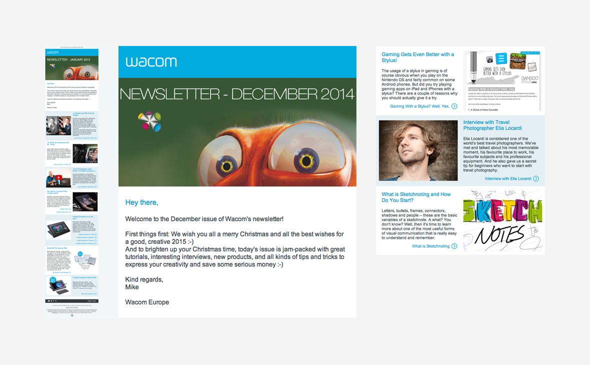 Wacom: Text eStore-Newsletter