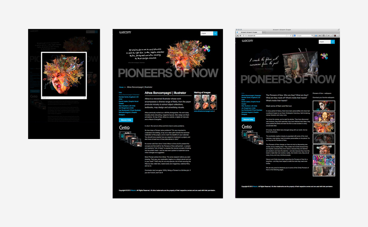 Wacom: Konzept Pioneers of Now