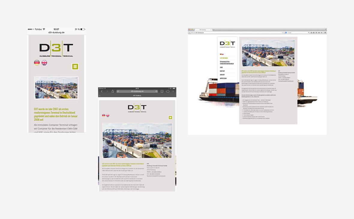 d3t Duisburg Trimodal Terminal - Website - Teaserbild