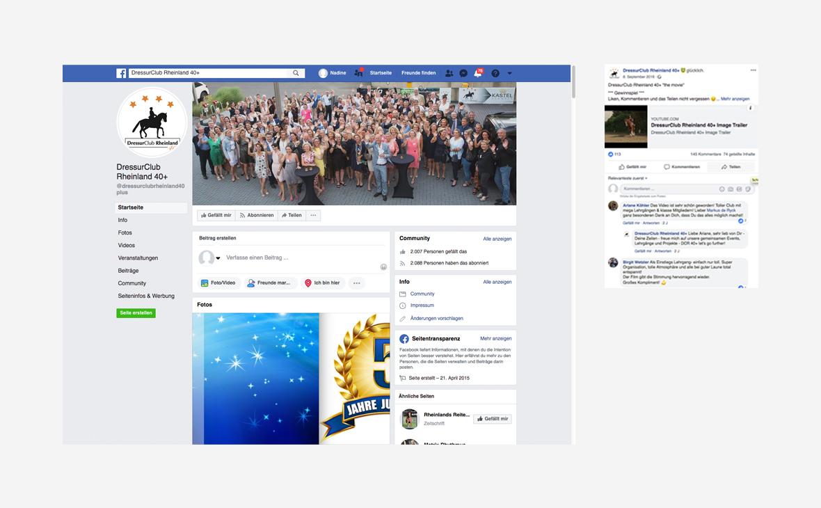 DressurClub Rheinland 40+: Facebook