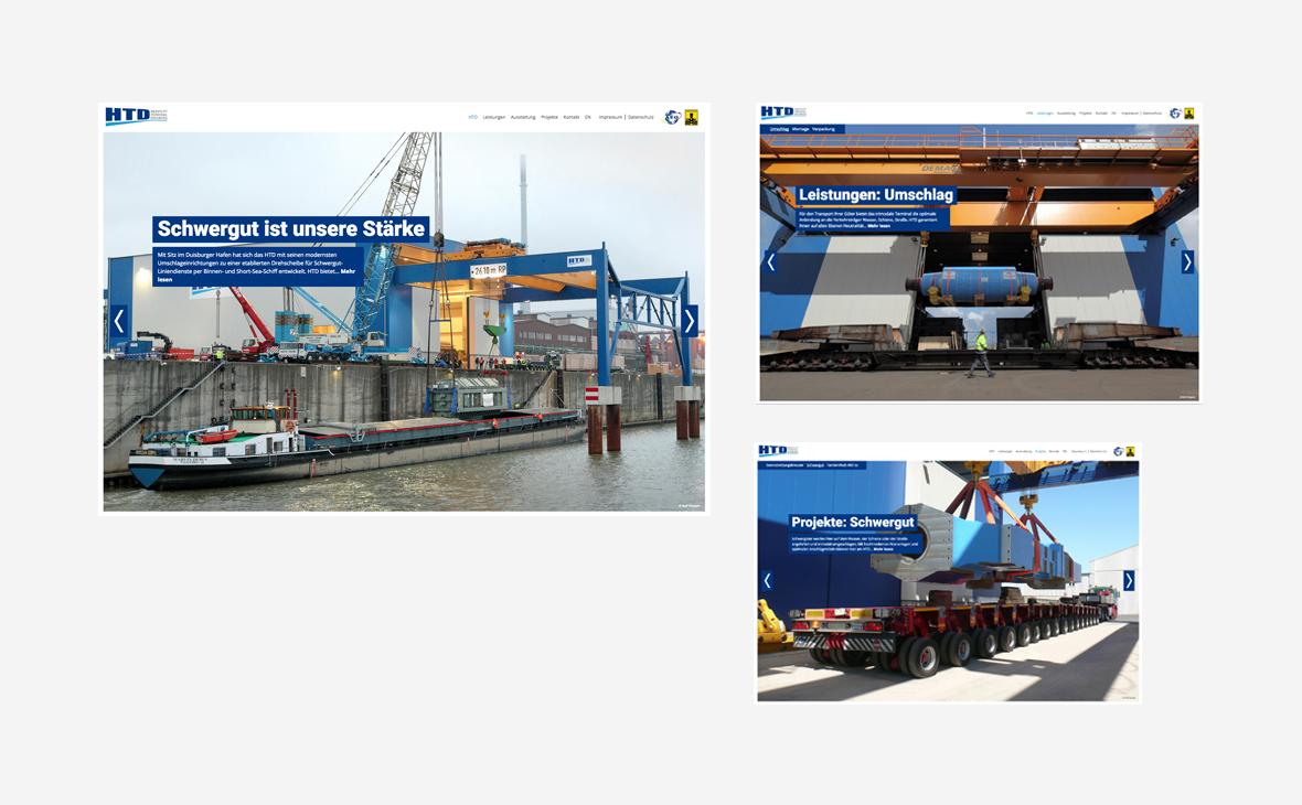 Heaylift Terminal Duisburg - Website - Teaserbild