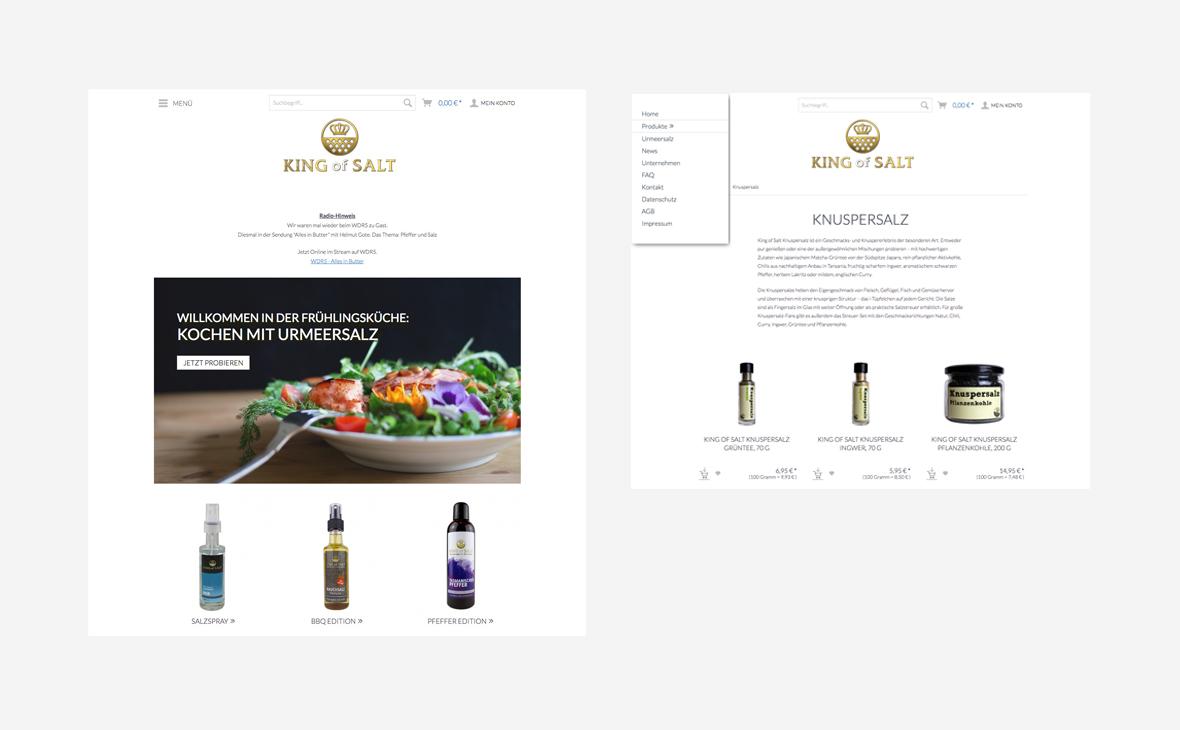 King of Salt – Design + Copy Online-Shop - Teaserbild