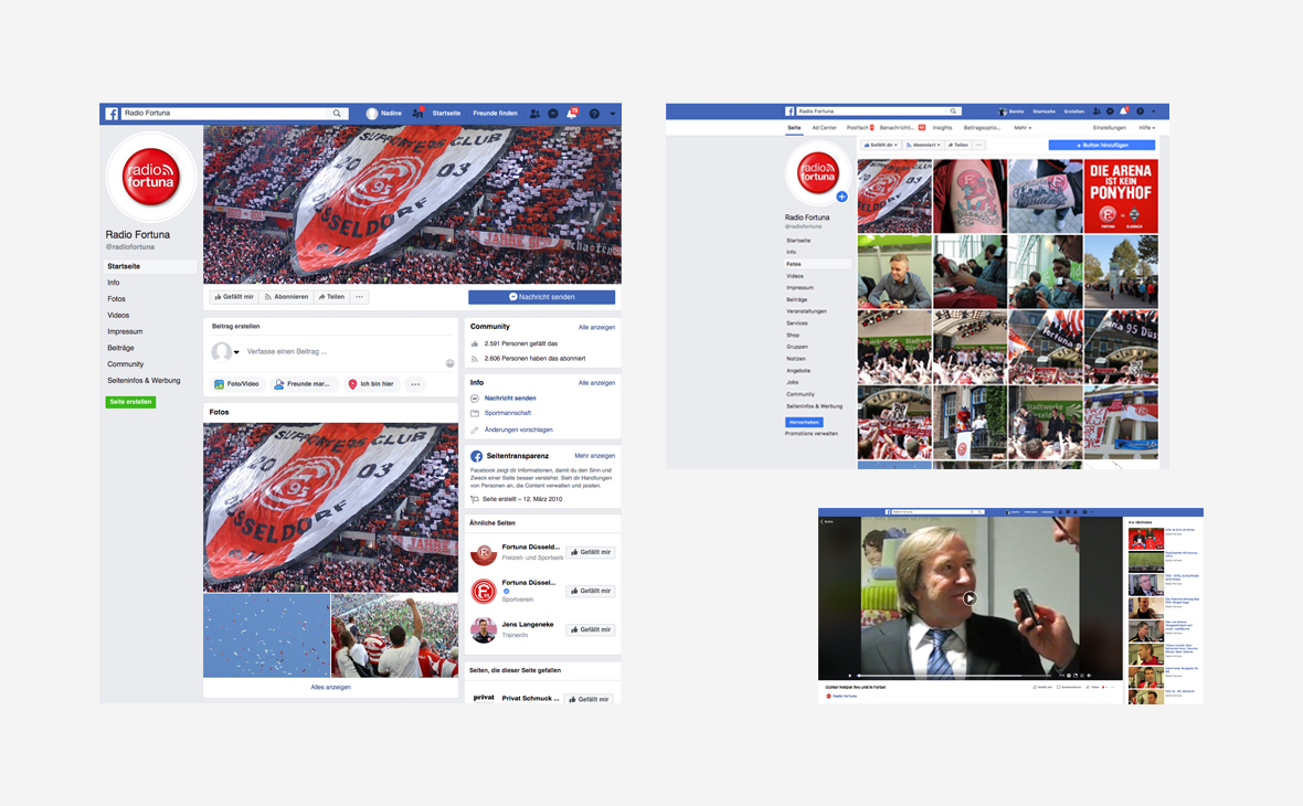 Fortuna Düsseldorf - Facebook Radio Fortuna - Teaserbild